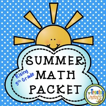 Summer Math Packet (rising 5th grade) | Math 3-5 | Math