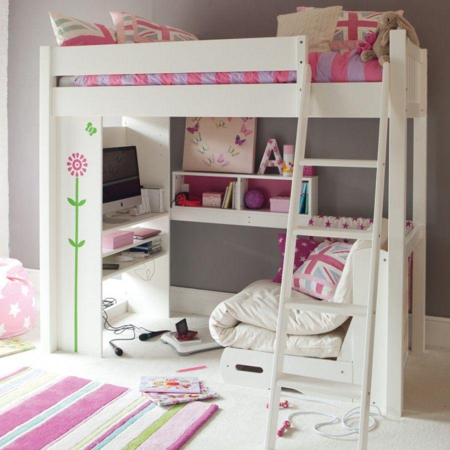 Girls Bedroom Ideas For Every Child: Warwick High Sleeper With Media Centre