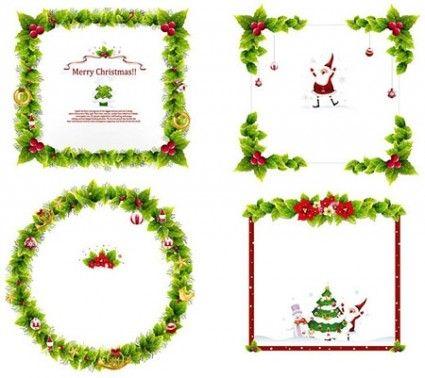 Vectores de Navidad ornamento del marco