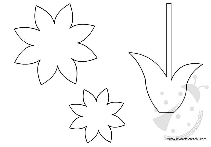 Sagoma fiore sagome utili per realizzare un fiore di di carta da attaccare alle porte e ai vetri - Decorazioni primaverili per finestre ...