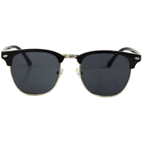 Icon Eyewear Clubmaster 3211 Black Sunglasses (20 CAD) ❤ liked on Polyvore featuring accessories, eyewear, sunglasses, glasses, black, rimmed glasses, icon eyewear, icon eyewear sunglasses and lens glasses