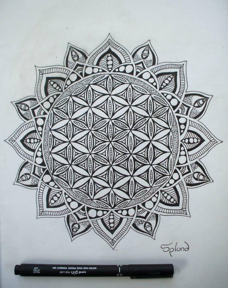 Flower Of Life Mandala By Splund Art On Deviantart Mandala