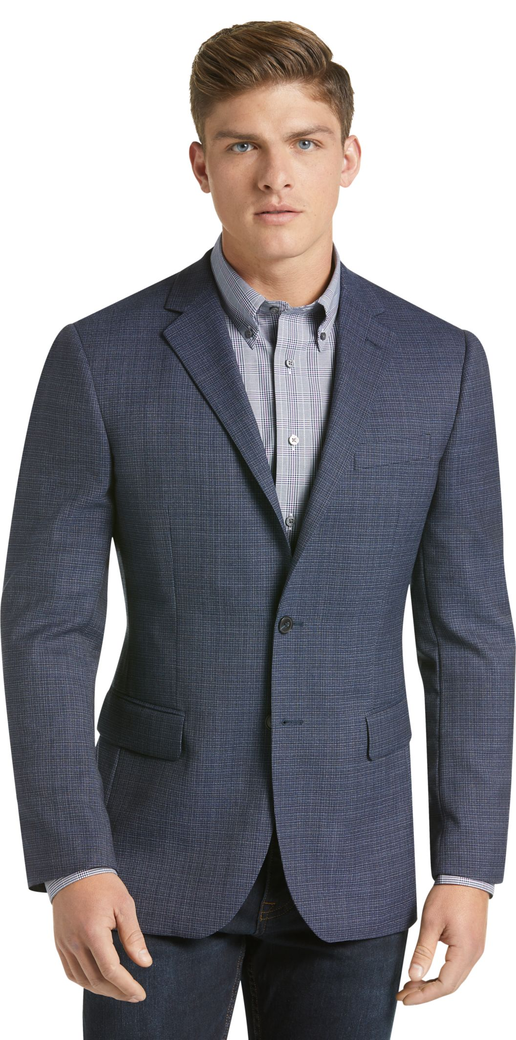 ca96e2132b3 Traveler Collection Slim Fit Woven Pattern Sportcoat - Big   Tall ...