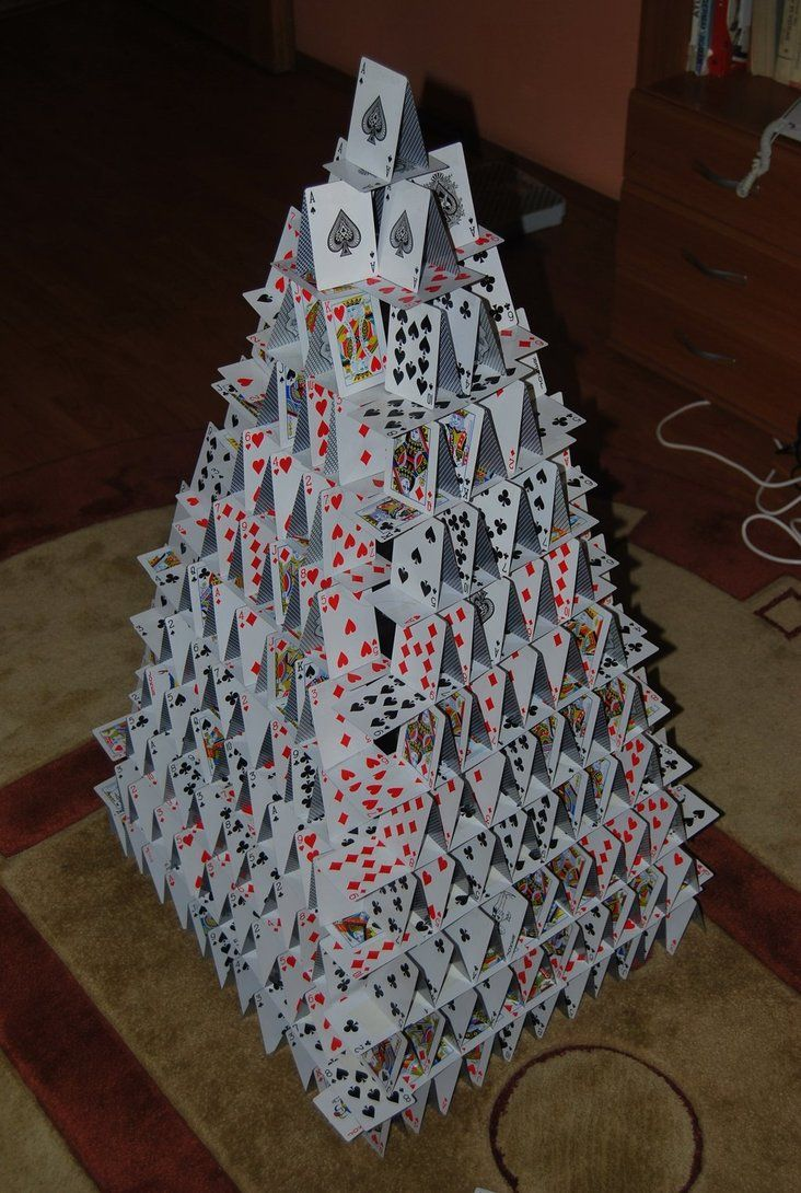 Playing Card Castle by cal3star   Playing card crafts, Diy playing ...