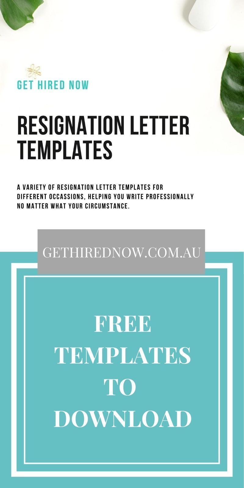 Get Hired Now Resume Writing FREE Resignation Letter