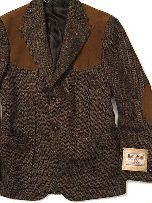 POLO RALPH LAUREN DOUBLE RL RRL HARRIS TWEED WOOL SHOOTING JACKET ...