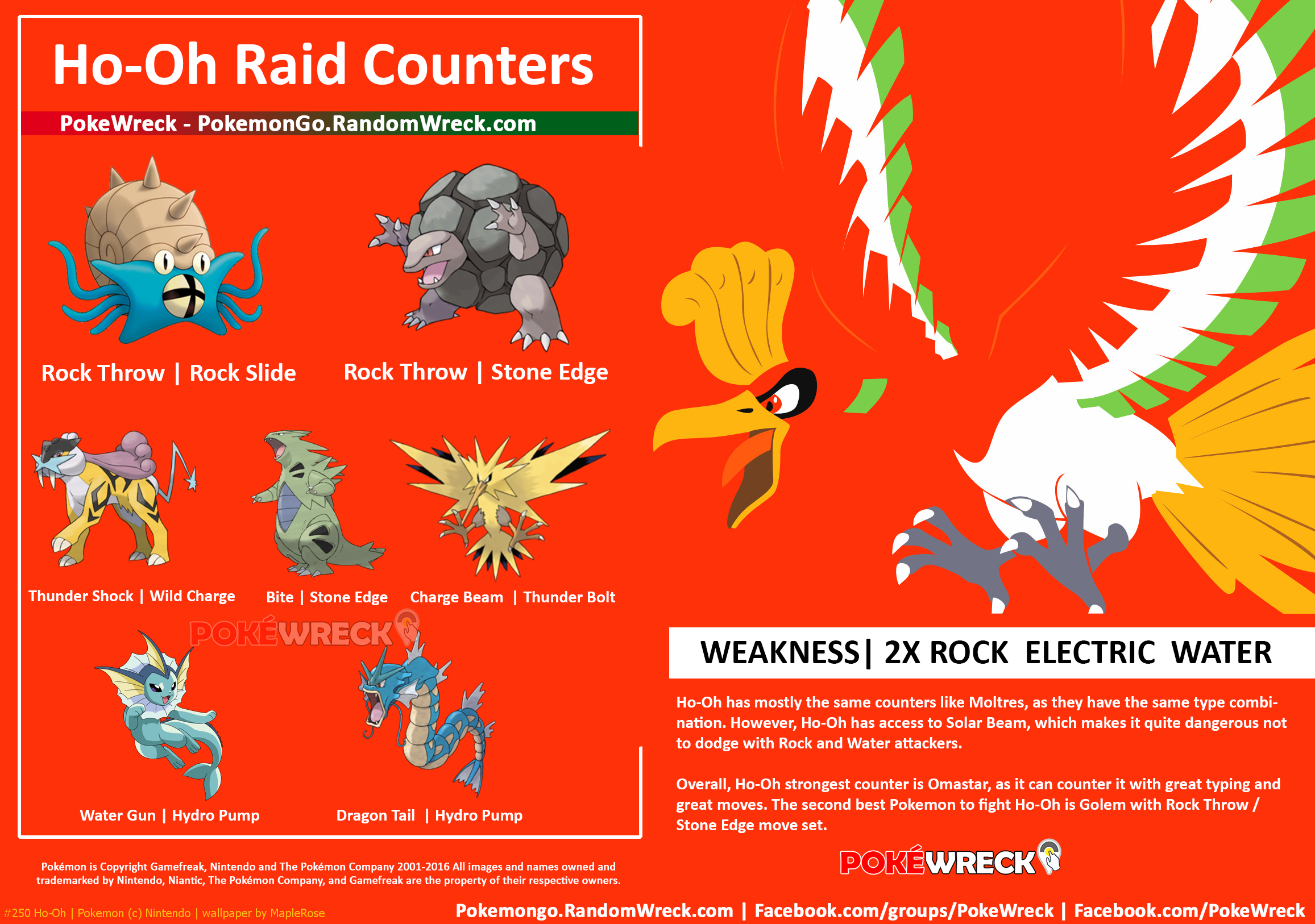 We Re Almost Ready For Ho Oh Raid Counters Infographics Pokemon Go Pokemon Almost Ready