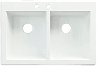 Amazon Com 33 X 19 Kitchen Sink Acrylic Or Granite Composite White Kitchen Bar Sink Tools Home Improvement Bar Sink White Kitchen Kitchen Sink Kitchen sinks 33 x 19