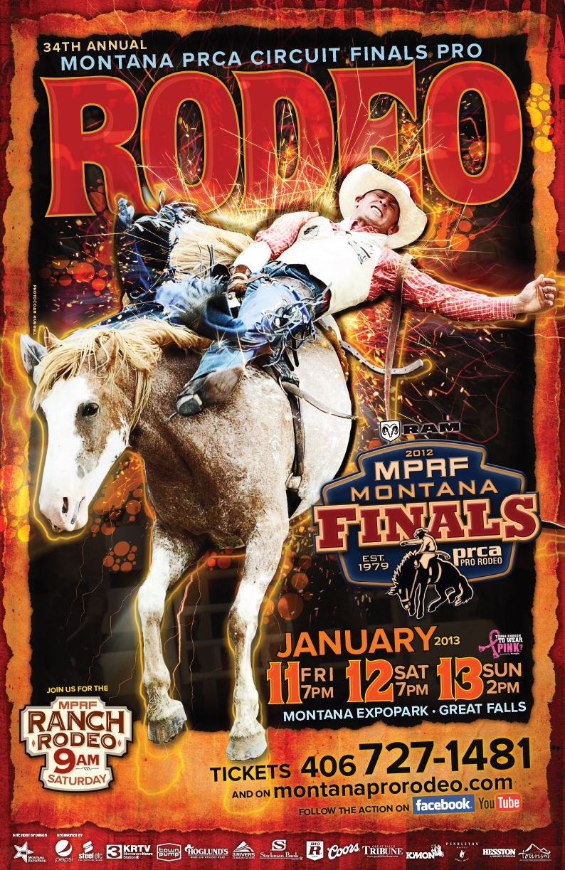 Montana Pro Rodeo Circuit Finals event poster. | Walker ...
