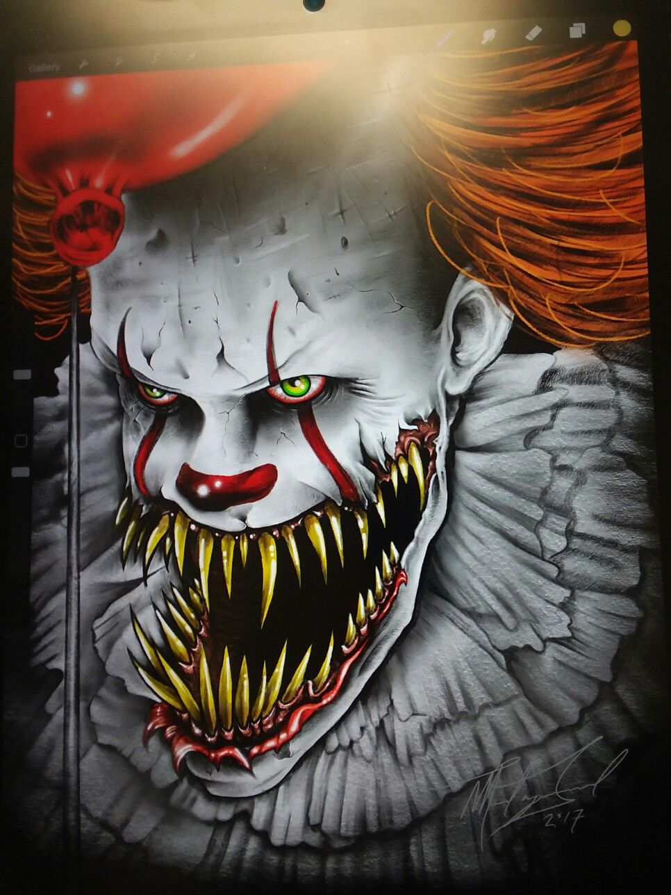 Scary Clown Faces Drawings