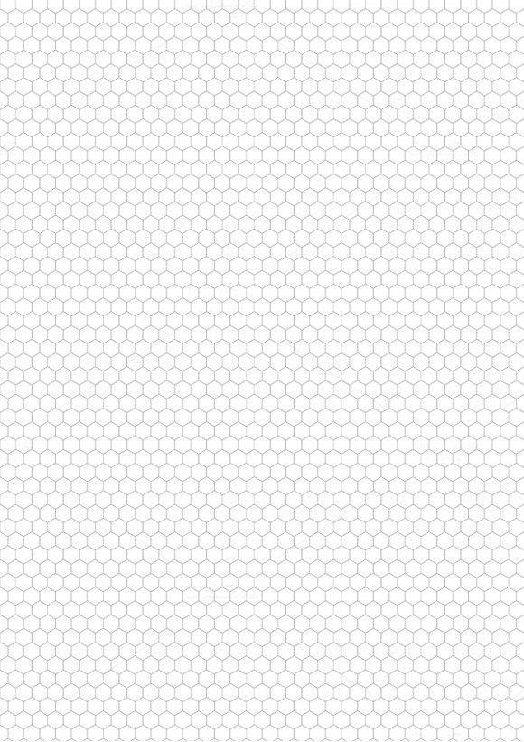 photo regarding Printable Hexagon Grid titled Grey hexagon grid upon a4 sheet Models Grid, A4 sheet
