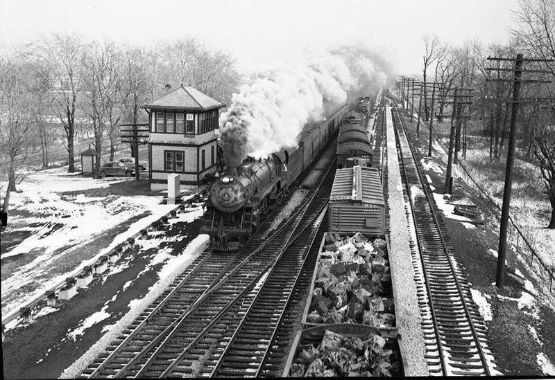 Baltimore and ohio railroad train 233 westbound at summit