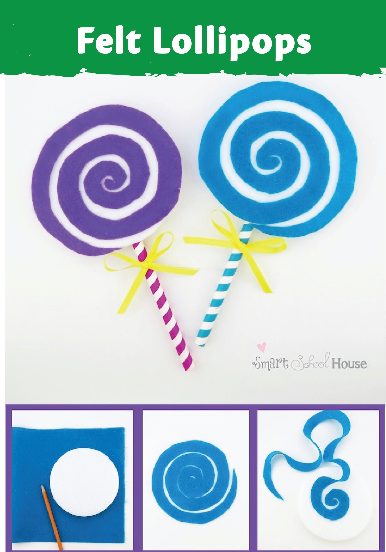 Lollipop A Cute Felt Craft Tutorial Everyday Kid Crafts Felt
