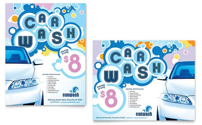 Car Wash Poster Template Design by StockLayouts Layout - auto detailing flyer template
