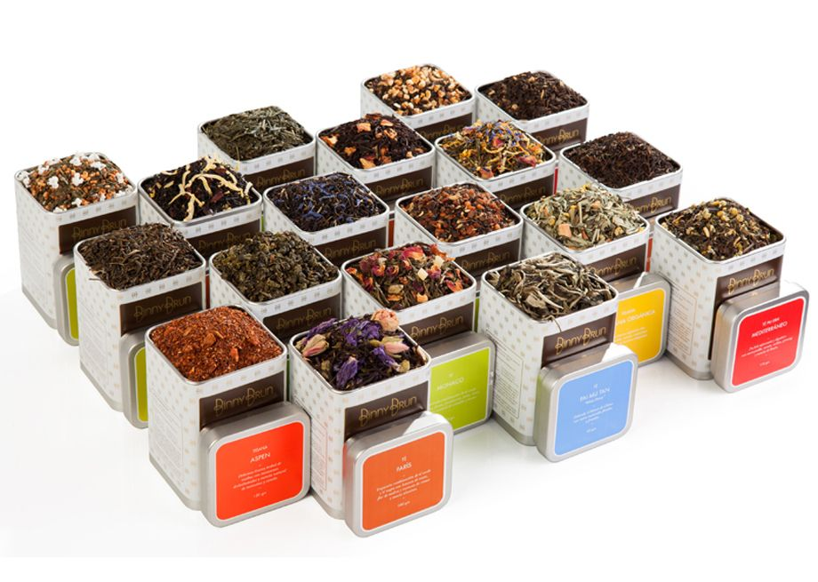 variedad tés y tisanas Binny Brun
