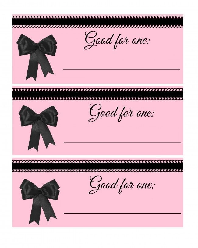 Blank Valentines Day Coupon Book  Coupon Book