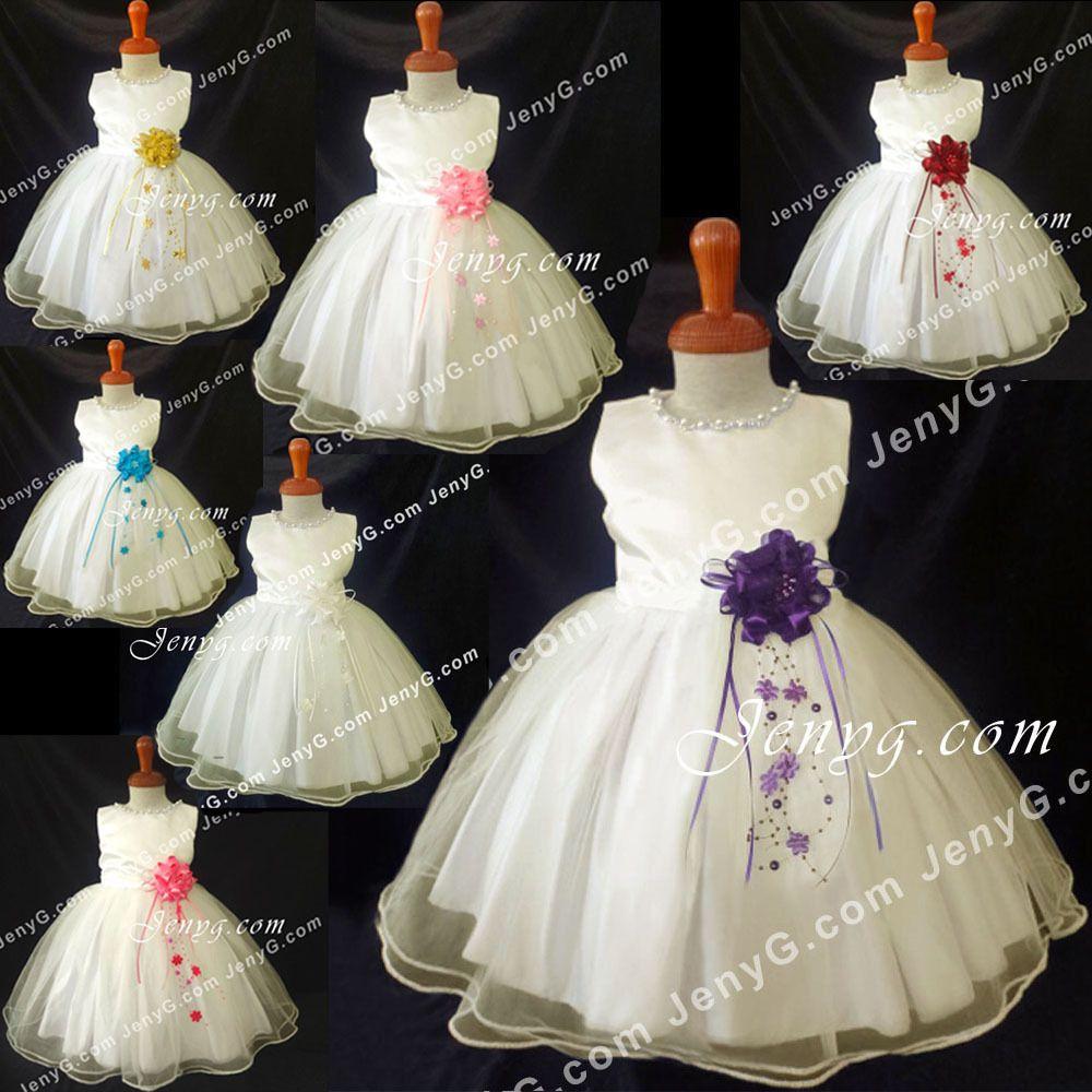 Details zu NLI7 Baby Mädchen Hochzeit Taufkleid Taufe Festlich ...