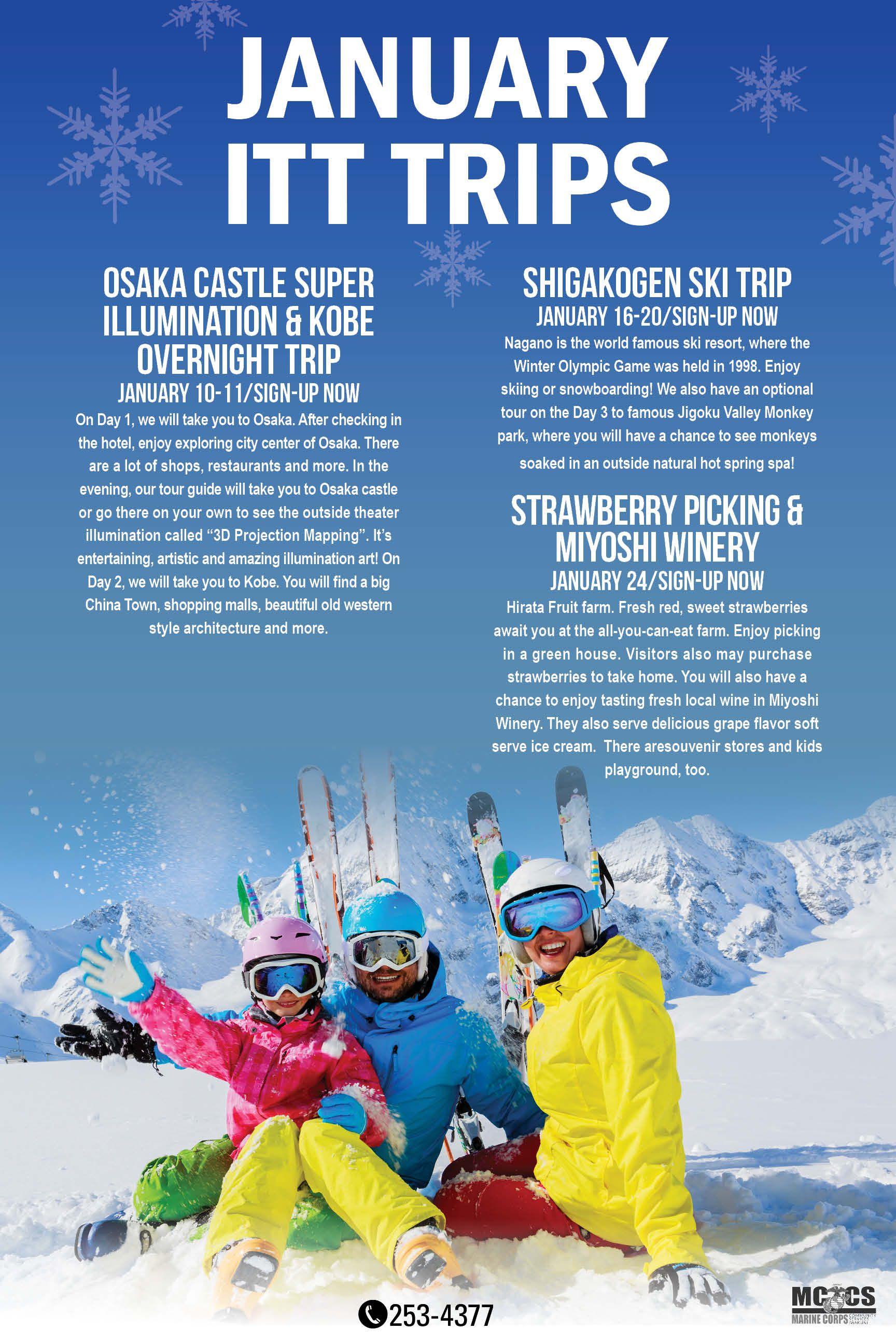 2014 January ITT Trips Osaka castle, Winter olympic