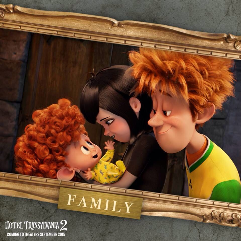 Hotel Transylvania 2. Mavis And Johnny With Baby