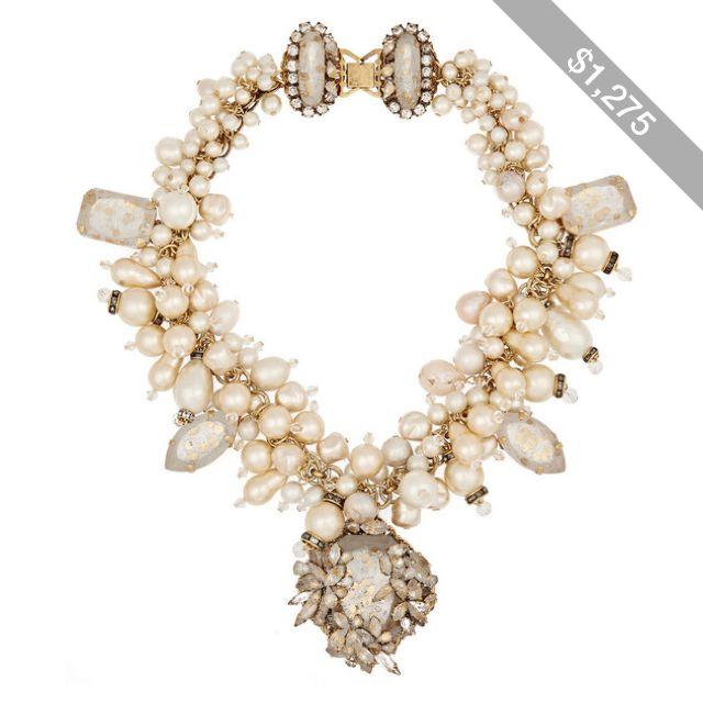 Erickson Beamon Gold-Plated Faux Pearl Necklace w4LZniUNpW