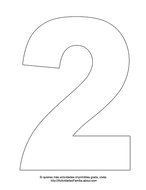 Imágen del número 1 para imprimir gratis y colorear ...