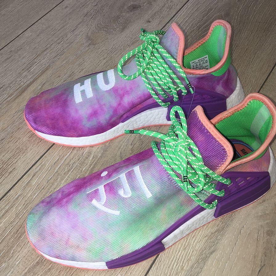 buy online 2c0f0 34120 Tie Dye Pharrell Human Race (Sample) | Polyvore | Fashion ...