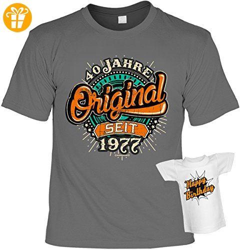 Geschenkidee T-Shirt zum 40. Geburtstag Leiberl Geschenk zum 40 Geburtstag  40 Jahre Geburtstagsgeschenk