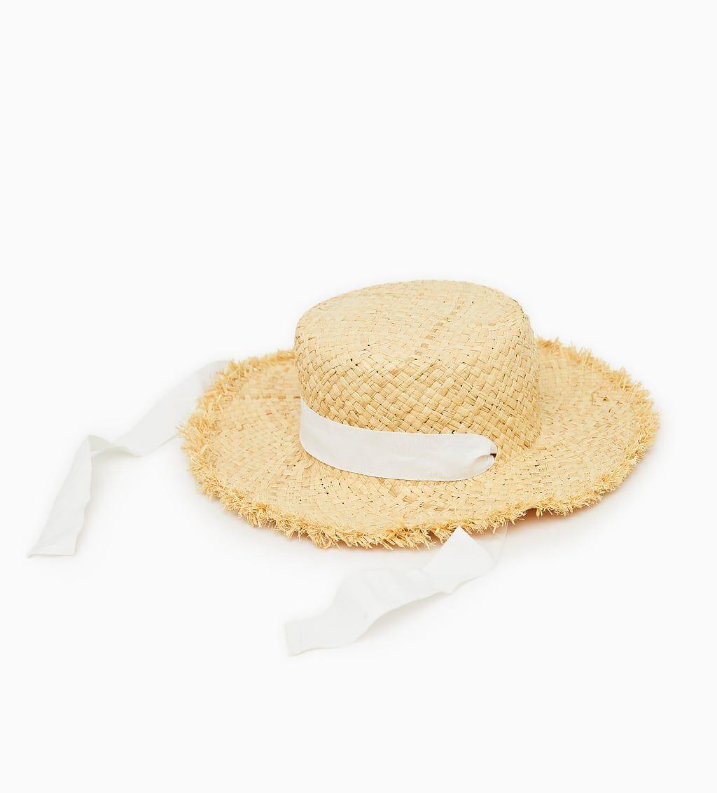 Image 1 Of Frayed Straw Hat From Zara