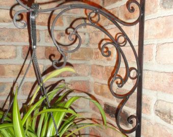 Plant Hanger Wall Decor Decorative Wrought Iron Garden