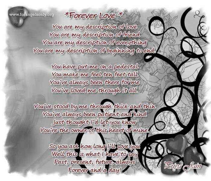 My forever love poem