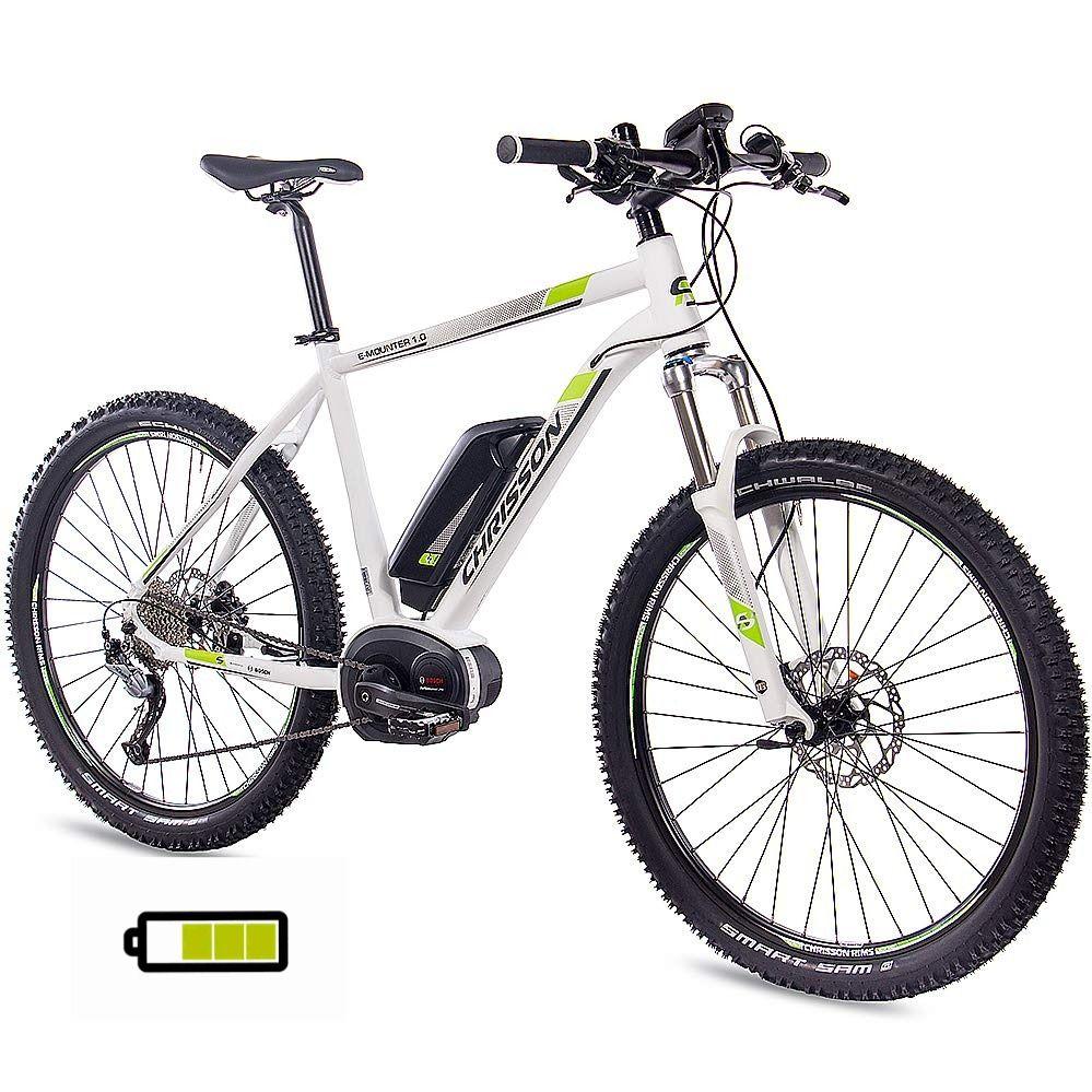 Chrisson 27 5 Zoll E Bike Mountainbike Bosch E Mounter 1 0 Weiss 48cm Elektrofahrrad Pedelec In 2020 Elektrofahrrad Pedelec E Bike