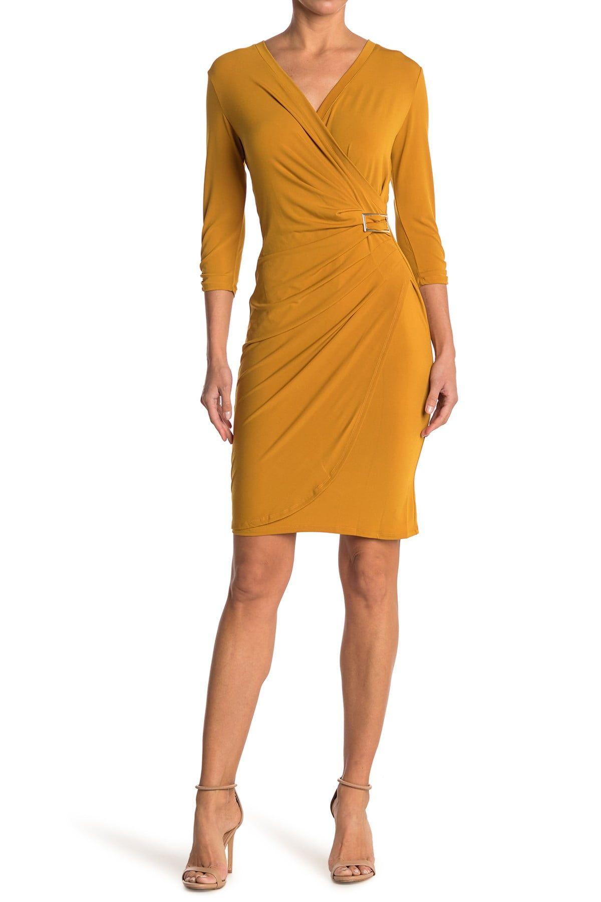 T Tahari Wrap Midi Dress Nordstrom Rack Midi Dress Nordstrom Dresses Dresses [ 1800 x 1200 Pixel ]
