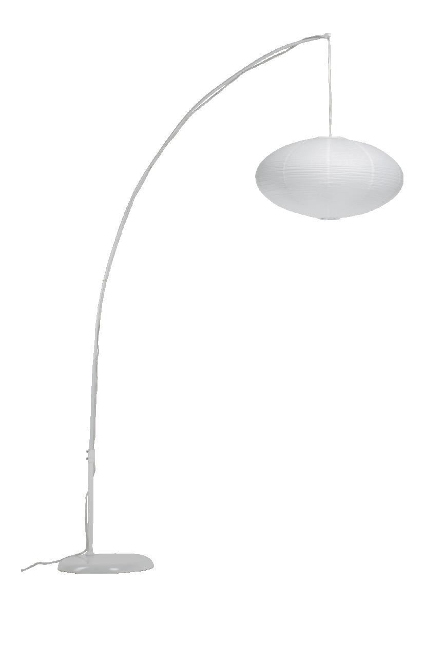 pjaponica lampadaire en papier blanc
