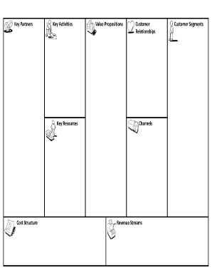 Business Model Canvas Template Word : business, model, canvas, template, Online, Business, Model, Template,, Canvas,, Notebook, Paper, Template