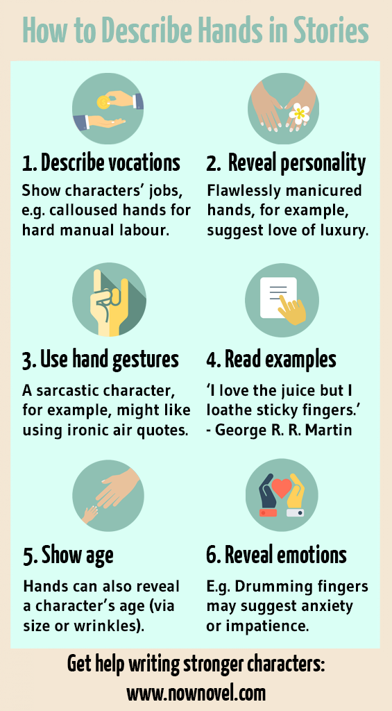 How to Describe Hands: 6 Ways to Make Characters Real | Now Novel