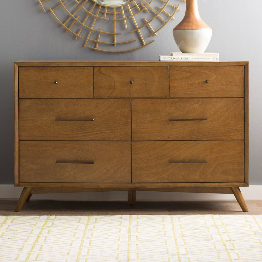 Parocela 7 Drawer Dresser With Images Modern Dresser 7 Drawer Dresser Mid Century Modern
