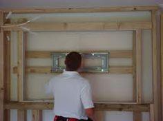 Weekend Project Build A False Tv Wall Basement