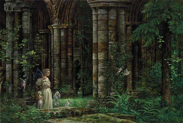 QUEEN MAB IN THE RUINS W/FIGURINES By James C. Christensen