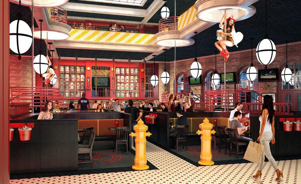 Firehouse Tavern At The Ny Hotel Las Vegas Interior Design Restaurant By Bar Napkin Productions Barnapkinproductions
