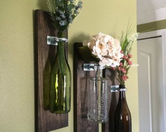 Wine Bottle Wall Decor 3 Hardware Only Wine Bottle Wall Flower Vases  Bottles