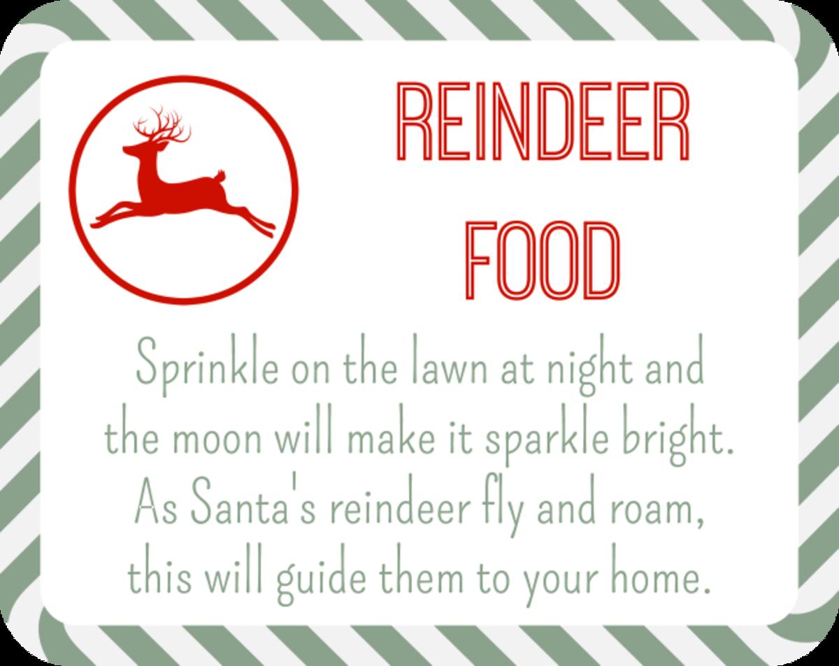 Reindeer Food Free Printables Reindeer Food Reindeer Food Label