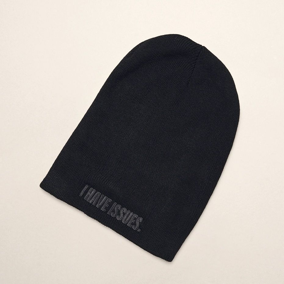 I HAVE ISSUES  KNIT BEANIE - KENNETH COLE NEW YORK  a2ded9c545f