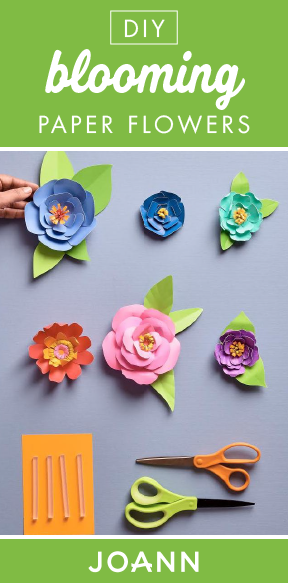Vivid Florals Dont Last Long Thats Where These Diy Blooming Paper