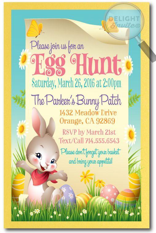 Whimsical Easter Egg Hunt Invitations Easter In 2018 Pinterest