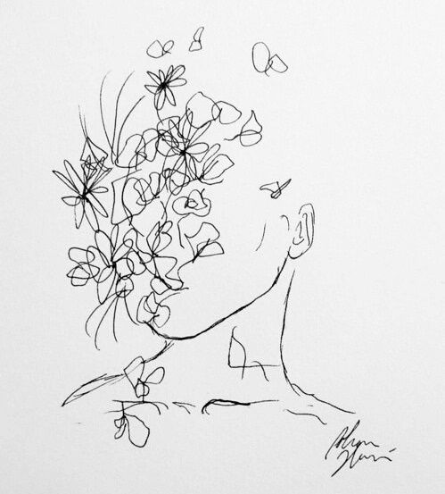 Pinterest mylittlejourney tumblr toxicangel for Flower line drawing tumblr