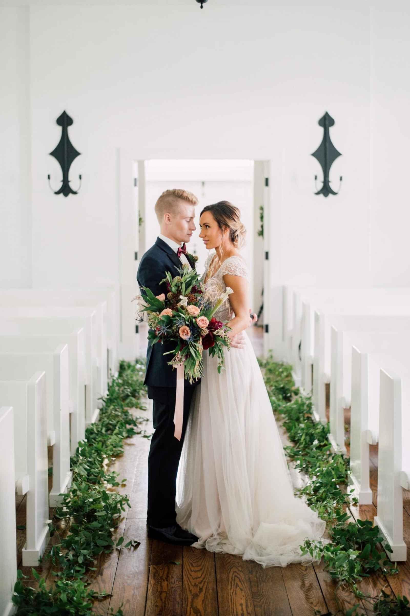 Michigan chapel wedding at Morris Estate WeddingDay