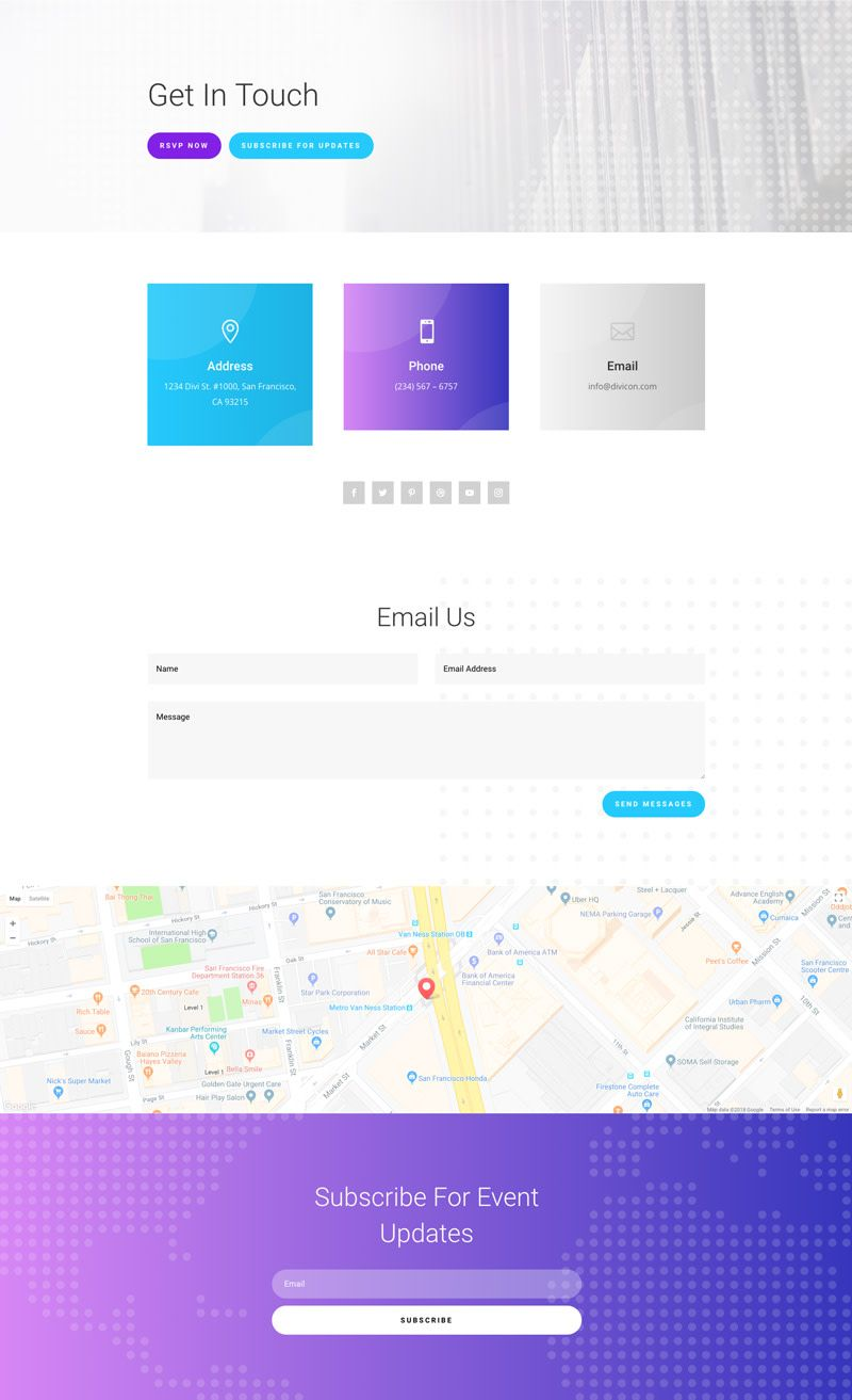 Get a FREE Meetup Layout Pack for Divi https//www