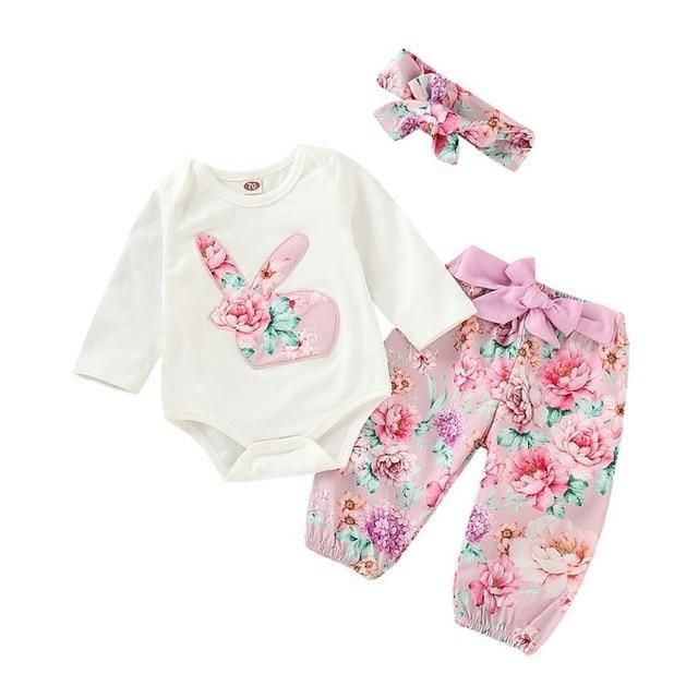388ebf350348 Floral Bunny Set – Baby Fitz Clothing. Floral Bunny Set – Baby Fitz Clothing  Cute Baby Girl Outfits ...