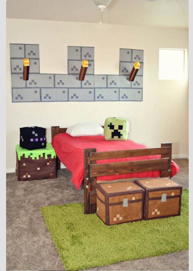 Like The Pouffy Chests Minecraft Room Minecraft Bedroom Kids Room