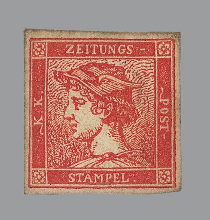 Rapp-Auktion / Österreich / «Zinnober Merkur» teuerste Briefmarke von Österreich / Verkauft für 120'000 Schweizer Franken